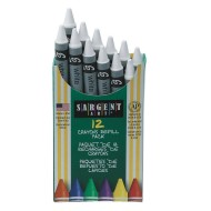"Standard Crayon Refill White 3-5/8""x5/16"" (pack of 12)"