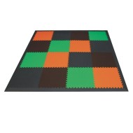 Earthtone Foam Floor Mats (set of 16)