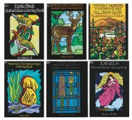 Stained Glass Coloring Books  (pack of 6)