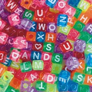 Glitter Alphabet Beads 1/2 lb Bag (bag of 500)