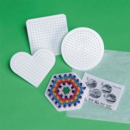 Small Fuse Bead Pegboards, Assorted Shapes (set of 4)