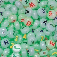 Glow in the Dark Alpha Beads 1/2-lb Bag (bag of 600)