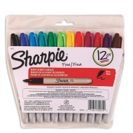 Fine Point Sharpie® Permanent Markers  (set of 12)