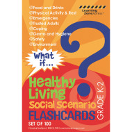 What If: Healthy Living Flashcards Grades K-2 (pack of 100)