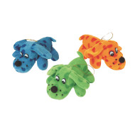 "Plush Polka Dot Dogs, 5"" (pack of 12)"