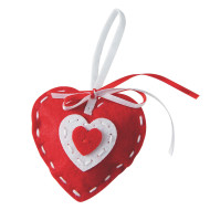 Stitched Heart Ornament Craft Kit (makes 12)