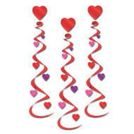 Heart Whirls (pack of 18)