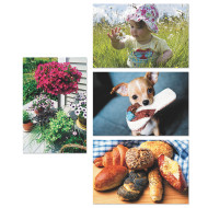 Thera-Jigstick™ Puzzle Set D: Baby, Flowers, Bread, Puppy (set of 4)
