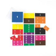 Printed Fraction Squares (set of 51)