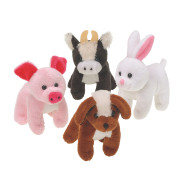 Furry Plush Farm Animals (pack of 12)