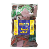 Felt Remnants Assorted Size and Color, 1lb.