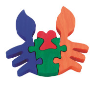Wooden Crab Puzzle Craft Kit (makes 12)