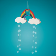 Foam Rainbow Mobiles Craft Kit (makes 48)