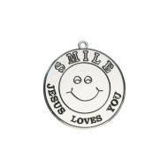 """Jesus Loves You"" Smile Face Sun Catcher (pack of 12)"