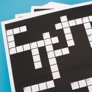 Extra Crossword Puzzle Grid Sheets (set of 60)