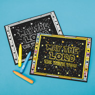 May the Lord Be With You Velvet Art Poster (pack of 24)