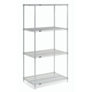 "Wire Shelving Unit, 74"" x 36"""