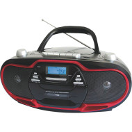SuperSonic MP3 CD Player with AM/FM, Cassette Recorder, & USB Input