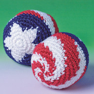 Patriotic Knit Kick Sacks (pack of 12)