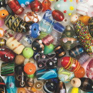 Fancy Glass Beads, 6-oz.
