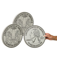 Jumbo Foam Quarters (set of 3)