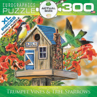 Trumpet Vines/Tree Sparrows 300 Piece Puzzle