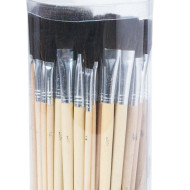 Bristle Brush Assortment Pack, Black (pack of 72)