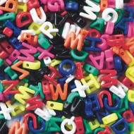 Manuscript Letter Beads (bag of 288)