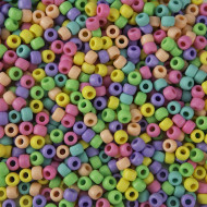 Pastel Matte Pony Bead Mix (bag of 800)
