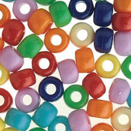 Jumbo Pony Bead Mix 1-lb Bag