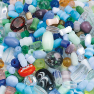 Glass Bead Mix 1/2-lb Bag (bag of 350)