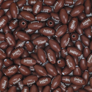 Football Beads - Pack of 144 (bag of 144)