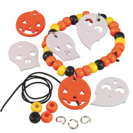 Halloween Pony Bead Bracelet Craft Kit (makes 12)