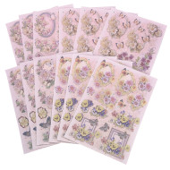 Glitter Decoupage Prints (pack of 12)