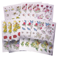 Metallic Decoupage Prints (pack of 12)
