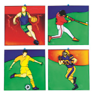 Sports Sun Catchers Craft Kit (makes 12)