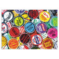 Soda Bottle Caps Jigsaw Puzzle, 300 Pieces