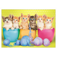 Kittens in a Cup Jigsaw Puzzle, 300 Pieces