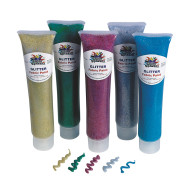 3-oz. Glitter Fabric Paint Set  (set of 5)