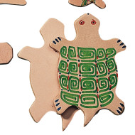 "Leather Shape 3"" - Turtle  (pack of 25)"
