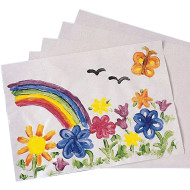 "White Finger Paint Paper, 16""x22""  (pack of 100)"