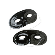 Half Mask - Black  (pack of 24)