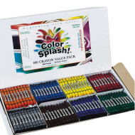 Color Splash!® Crayons - 8 Colors  (box of 800)