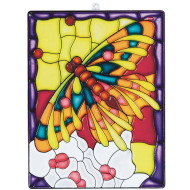 Stain-A-Frame Set - Butterfly Scene   (pack of 12)