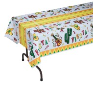 "108"" x 54"" Fiesta Print Table Cover"
