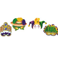 Mardi Gras Paper Half Masks  (pack of 12)