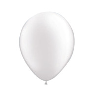 "11"" Qualatex® Pearltone Balloons, Pearl White (bag of 100)"