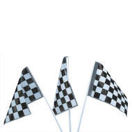 Plastic Racing Flags  (pack of 12)