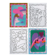 "Sand Art Boards 5""x7"" - Hearts & Stars  (pack of 12)"