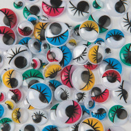 Painted Wiggly Eyes  (pack of 100)